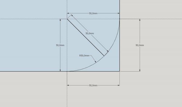 Tafelblad op maat- radius