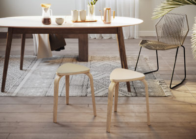 Linosa voor de IKEA Kyrre kruk