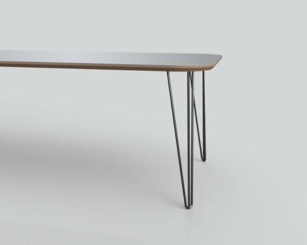 Tafelblad op maat met Hairpin tafelpoten