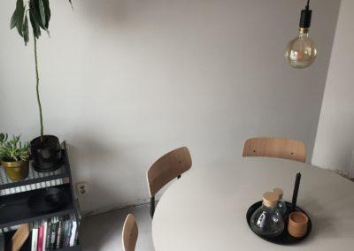 Rond tafelblad op maat - linoleum - fenix