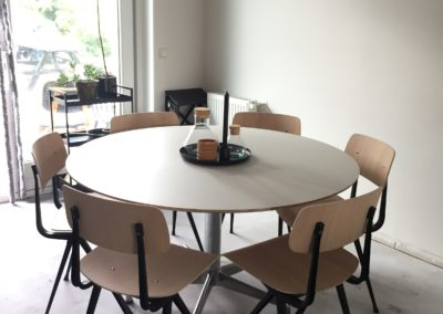 Rond tafelblad op maat-linoleum