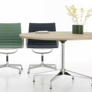 Vitra Eames Segmented Table met een rond tafelblad op maat